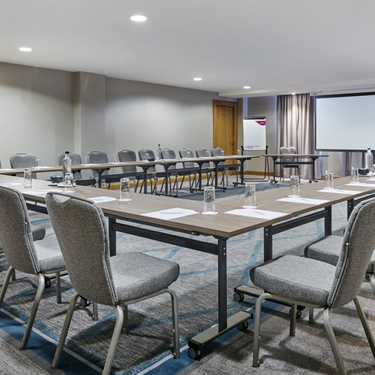The Hemlcok meeting room in the Great Oak Conference Centre Belfast
