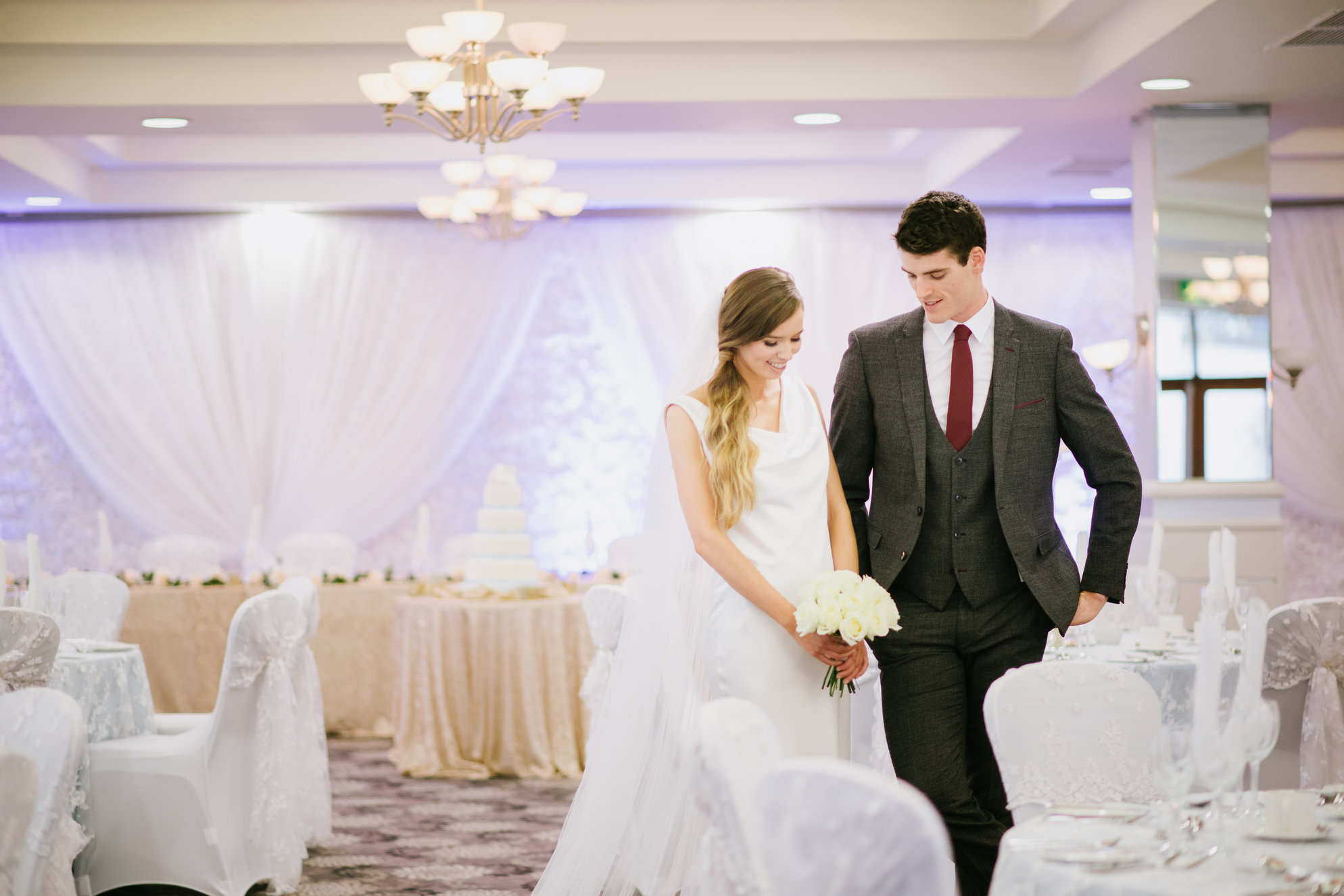 Newly-wed couple in the gorgeous Laganview Suite
