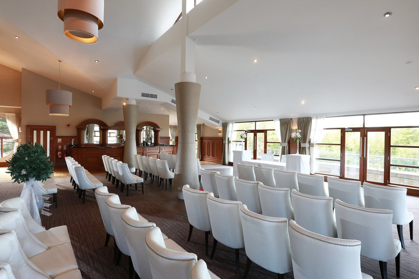 Laganview Suite wedding ceremony